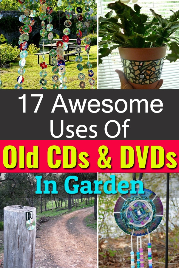 Old and scratched CDs and DVDs are easy to find, you can make them useful again in your garden with these 17 DIY projects.
