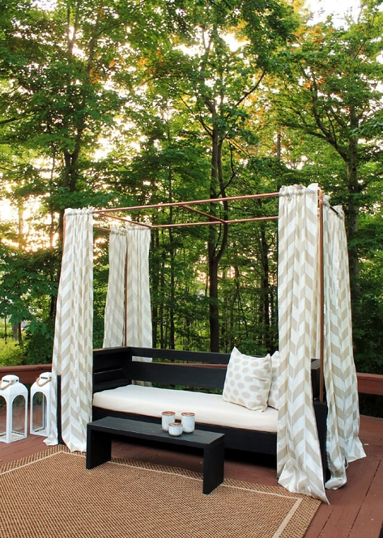 DIY Copper Cabana Lounge & 6 DIY Cabana Lounge Ideas For Garden Patio u0026 Yard | Balcony Garden Web