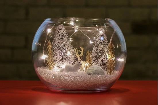 Terrarium Christmas decoration