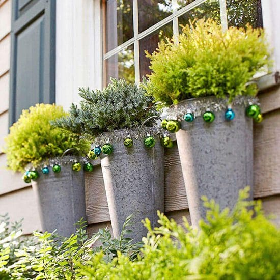 Cylindrical Window Boxes