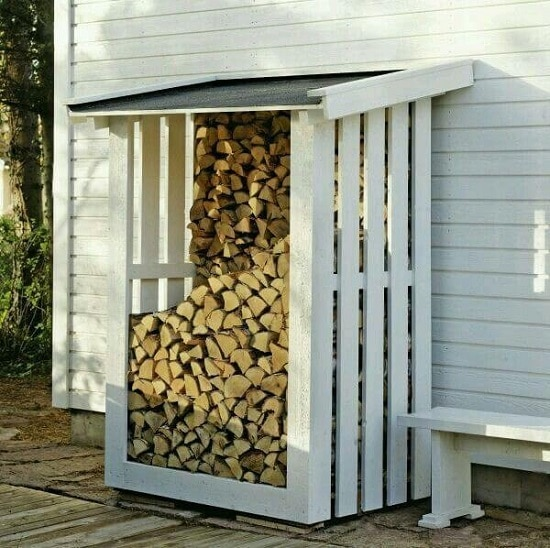 homemade diy firewood rack ideas
