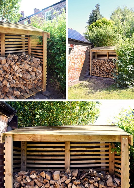 16 Best Homemade Diy Firewood Racks Ideas Balcony Garden Web