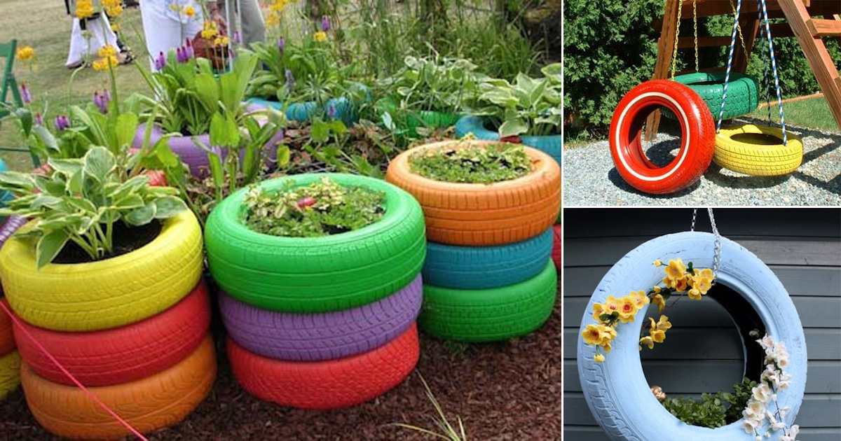 8 tire garden ideas you must look at