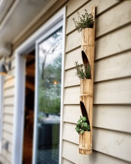 Vertical Planter From Bamboo