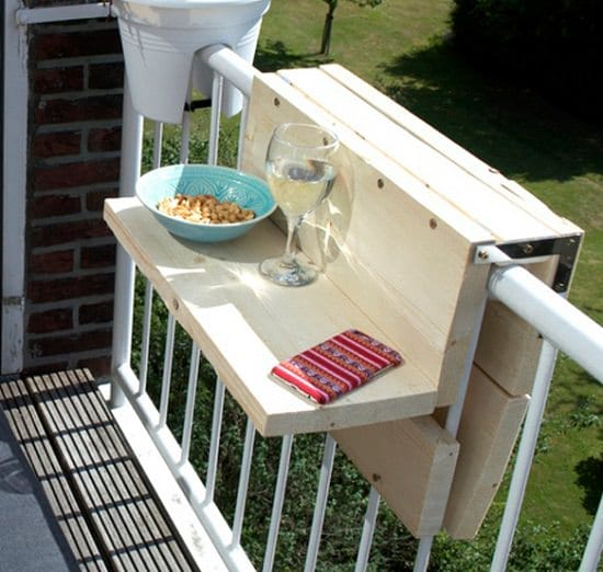 how to make a balcony bar