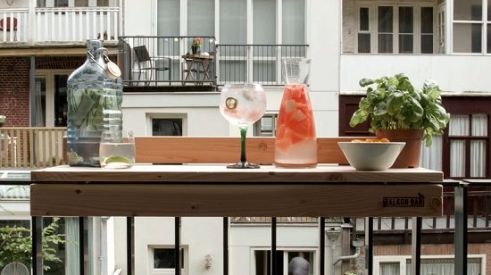 DIY balcony bar top ideas
