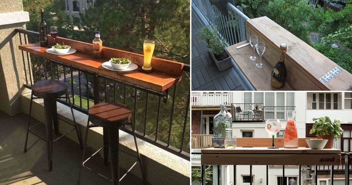 6 Diy Bar Top Ideas For Balcony Balcony Garden Web