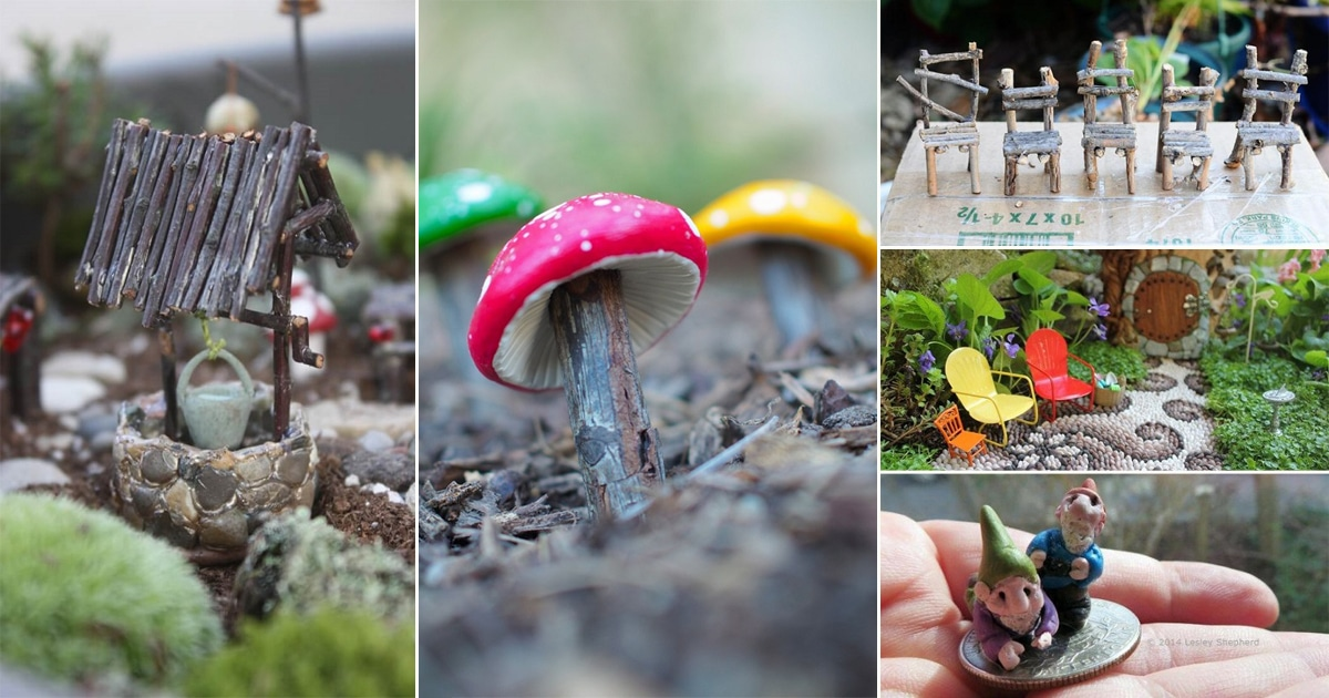 35 Diy Fairy Garden Accessories You Can Make For Almost Free