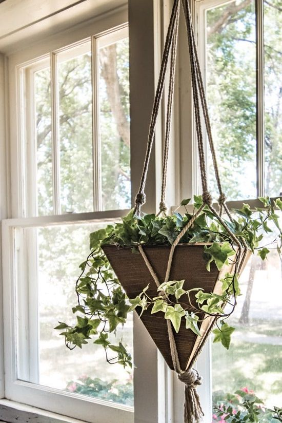 Pine Board Hanging Planter