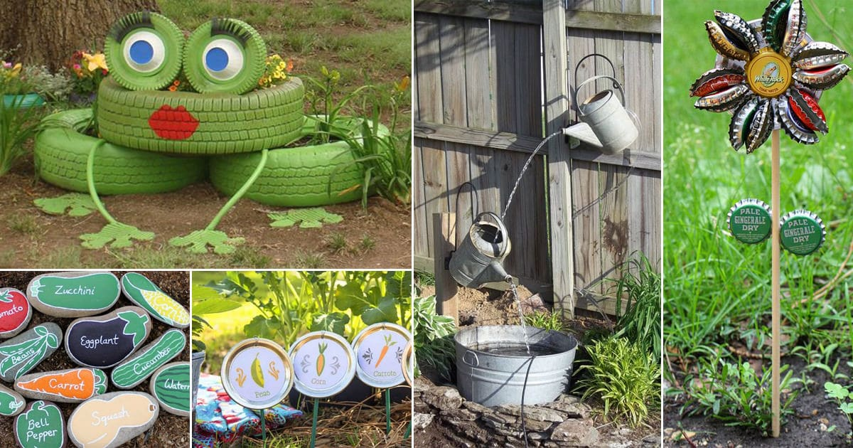 61 Easy DIY Garden Art and Craft Ideas | Balcony Garden Web