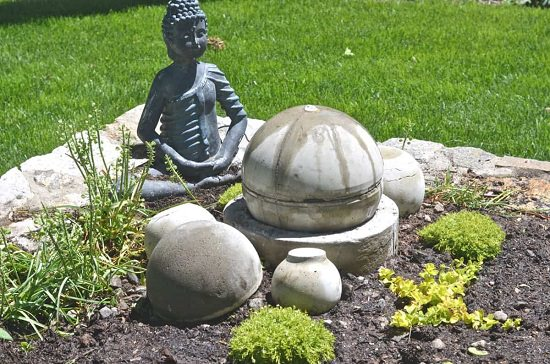 DIY Concrete Focal Garden Fountain