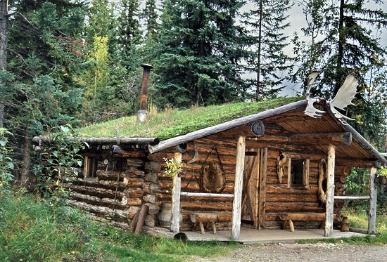 DIY Hunting Log Cabin