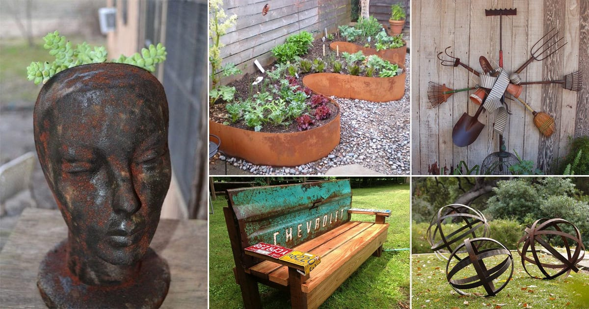 Super 21 Diy Rusted Metal Garden Art Decor Projects Balcony Creativecarmelina Interior Chair Design Creativecarmelinacom