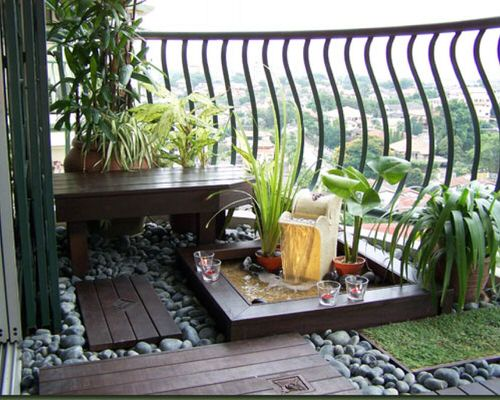 Peaceful Balcony Garden Pictures