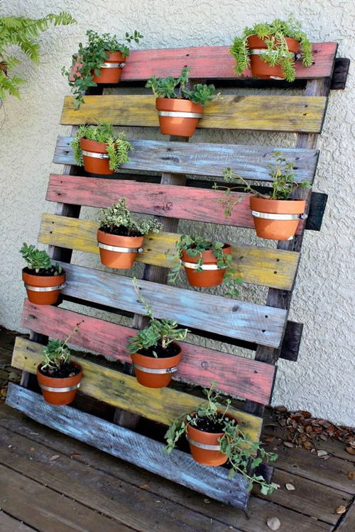 Rainbow Vertical Garden Ideas 6