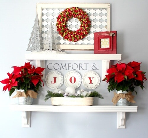 Ideas to Decorate your Home with Poinsettias 6