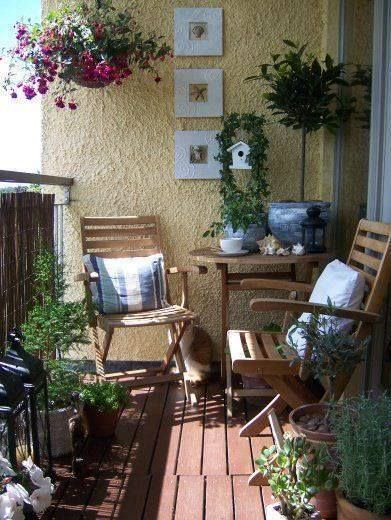 The Best Decorated Small Outdoor Balconies on Pinterest 7