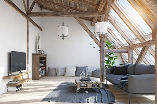 Stunning Attic Rooms with Plants Pictures 6