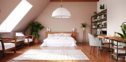 Stunning Attic Rooms with Plants Pictures 7