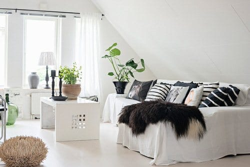 Stunning Attic Rooms with Plants Pictures 4