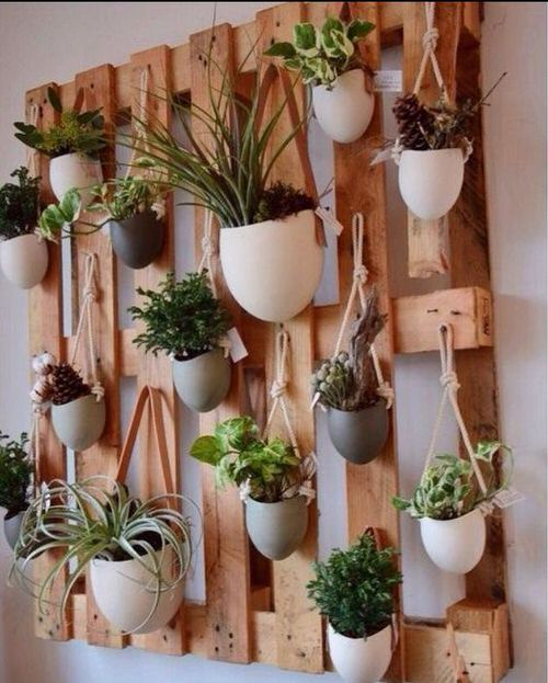 Old Wooden Boards Used to Create Brilliant Vertical Gardens 12