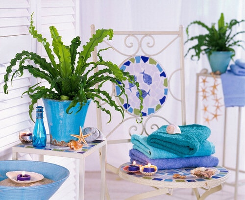 Pictures of Ferns in Bathroom 9