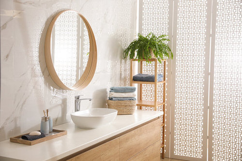 Pictures of Ferns in Bathroom