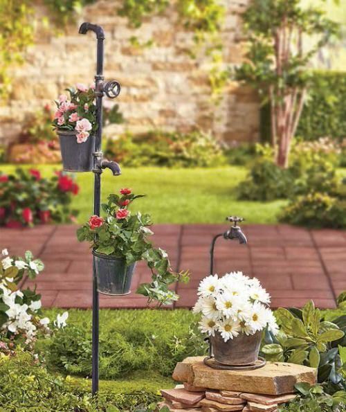 Industrial Garden Ideas from Used Items 101