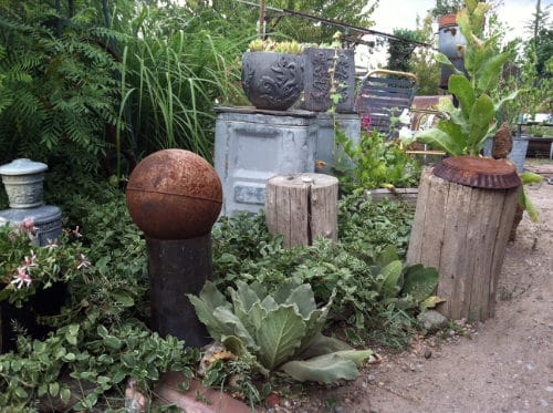 Industrial Garden Ideas from Used Items 105