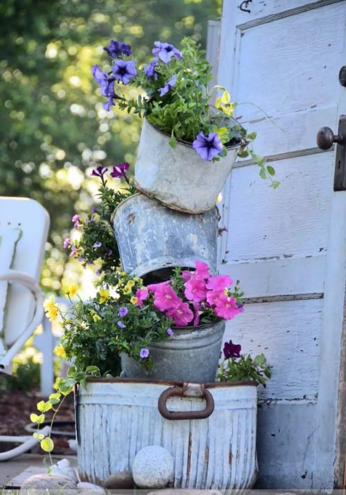 Industrial Garden Ideas from Used Items 3