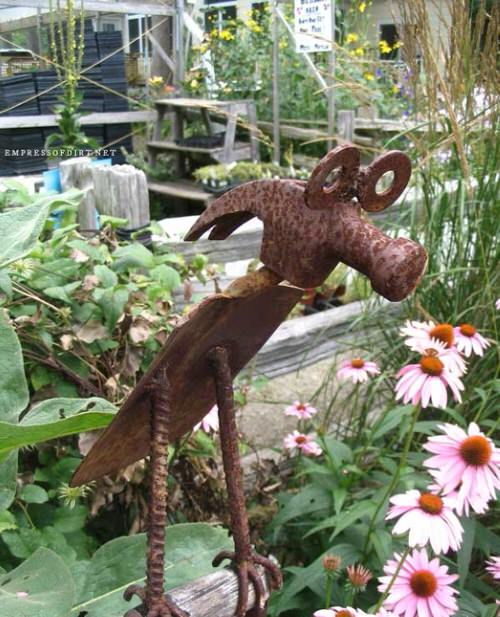 Industrial Garden Ideas from Used Items 99