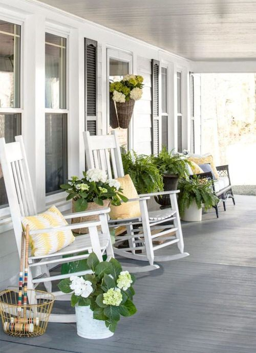 Front Porch Decoration Ideas with Ferns 2